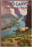 Grand CaNYon National Park, Arizona, Deer Scene