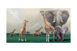 Elephants And Giraffes