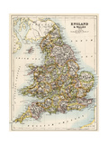 Map of England and Wales, 1870s
