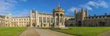 Uk, England, Cambridge, University of Cambridge, Trinity College, Great Court and Fountain