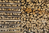 Stacked Wood, Slovenia, or Julian Alps