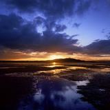 Sunset over Scrabo Tower on Strangford Lough