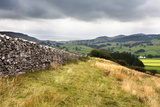 Dry Stone Wall and Public Footpath in Crummack Dale, Yorkshire, England, United Kingdom, Europe