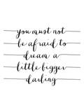 You Must Not Be Afraid O Dream A Little Bigger