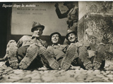 Postcard with a Group of Soldiers at Rest after the March During the First World War