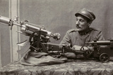 Soldier Near a Machine Gun