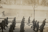 Italian Occupation Troops in Upper Silesia; Parading Soldiers with Grenade Launchers