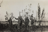 War Campaign 1917-1920: a Group of Riflemen in the Front Line on the Piave to the Saw Mill