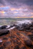 Sunrise Clouds and Seascape, East Kauai, Hawaii