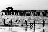 Beach Scene - Naples Florida Pier at Sunset