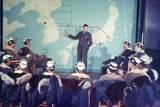 U.S. Bomber Pilots in Pre-Mission Briefing Yokota Air Base Near Tokyo, Japan