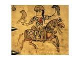 Falconer on Horseback, Detail from Ivory Casket, 11-12th C