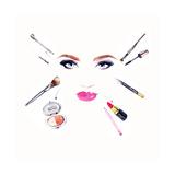 Makeup Artist. Woman Portrait .Fashion Background