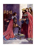 The King Made the Black Prince a Knight of the Order of the Garter, 1348