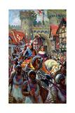 Edward V Rides into London with Duke Richard, 1483