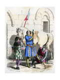 Knight Served by a Squire and Page, End of the 12th Century (1882-188)