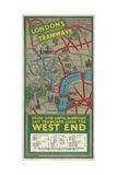 West End Tramways, London County Council (Lc) Tramways Poster, 1930