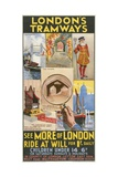 See More of London, London County Council (LC) Tramways Poster, 1933