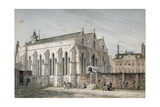 View of Temple Church, City of London, 1811