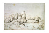 A Castle on a Rock in Mountainscape, 1540