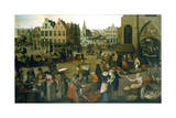 View of a Market Place, C1570-1603