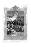 The British Attacking the French Line with Bayonets at the Battle of Maida, 1816