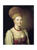 Female Portrait in Russian Dress, 1784
