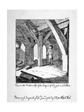 View in the Undercroft of the Church of St Etheldreda, Ely Place, Holborn, London, 1786