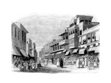 Bazaar in Bombay, India, 1847