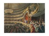 Auditorium of the Bolshoi Theatre, Moscow, Russia, 1856