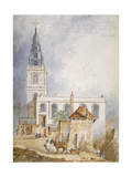 View of the Church of St Michael, Crooked Lane, City of London, 1831