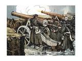Prussian Artillery Battery in Action, Franco-Prussian War, 1870-1871