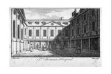 Middle Court of St Thomas's Hospital, Southwark, London, C1750