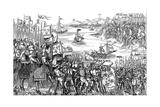 Louis IX of France Disembarking at Damietta, Egypt, Seventh Crusade, 1249