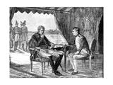 Alexander I Russia and Napoleon I (Bonapart) of France at Tilsit, 1807