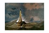 Smeaton's Eddystone Lighthouse, Devon, C1850