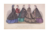 Five Women Wearing the Latest Winter Fashions, 1863