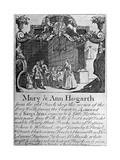 Advertisement for Mary and Ann Hogarth's Draper's Shop, Early-Mid 18th Century
