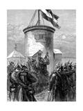 Prussian Troops Hoisting their Flag at Valerien, Franco-Prussian War, 1870-1871