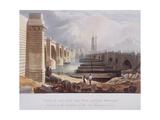 London Bridge (Old and New), London, 1832