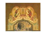 Chudov Monastery. Stage Design for the Opera Boris Godunov by M. Musorgsky, 1930