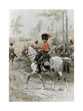 Officer of Hussars, 1889