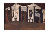 Stage Design for the Ballet the Masquerade by A. Khatchaturyan, 1981