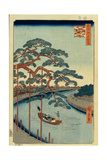 Five Pines and the Onagi Canal (One Hundred Famous Views of Ed), 1856-1858
