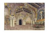 Stage Design for the Opera the Tsar's Bride by N. Rimsky-Korsakov, 1899