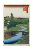 Hiroo on Furukawa River (One Hundred Famous Views of Ed), 1856-1858