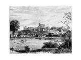 Windsor Castle from Brocas Meadows, C1888