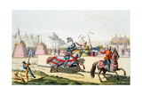 Armoured Knights Jousting at a Tournament, 12th Century, C1820