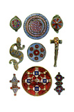 Romano-British Enamelled Ornaments, 1st- 2nd Century Ad