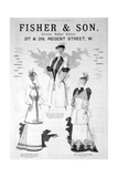 Advert for Fisher and Son, Ladies' Fashion, 1891
